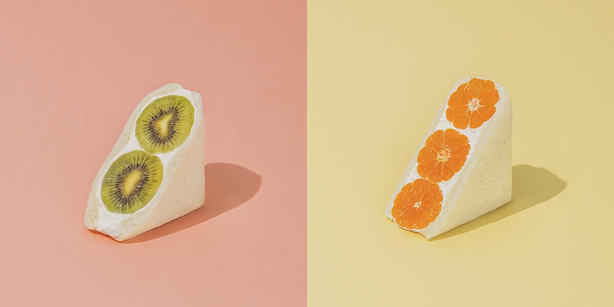 fruits and season(フルーツ アンド シーズン)のキウイ/¥680、みかん/¥734(ともに税込み)
