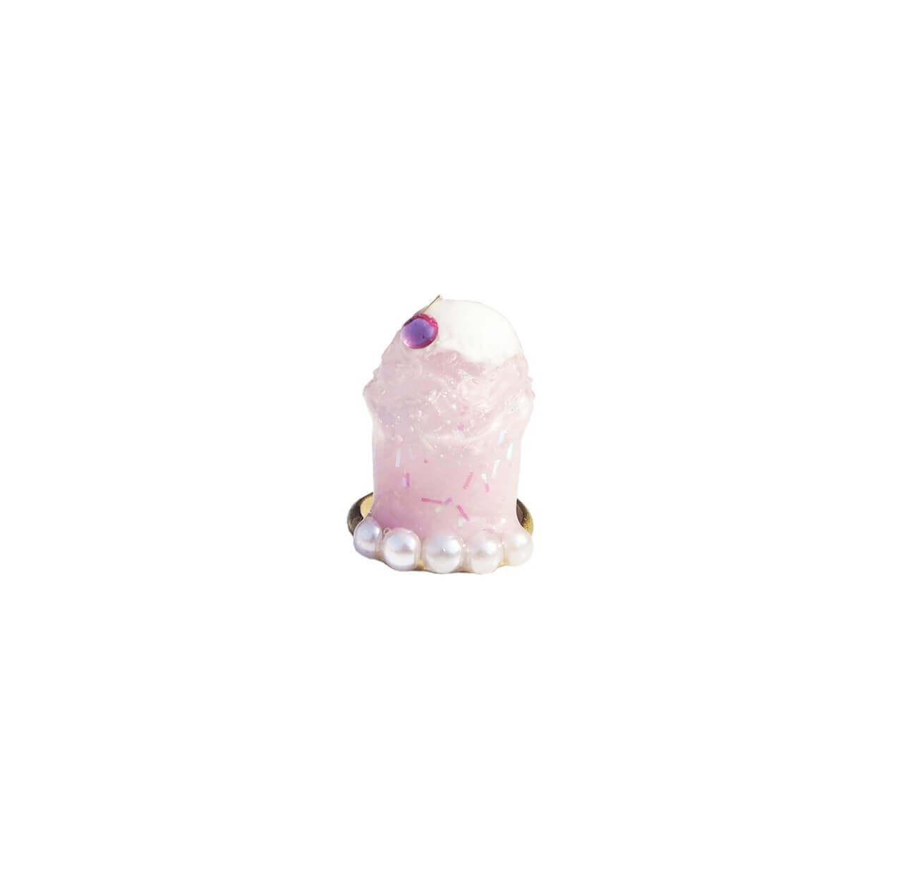 なかやまちえこDesign Ring クリームソーダ ピンク/¥4,730(税込み)