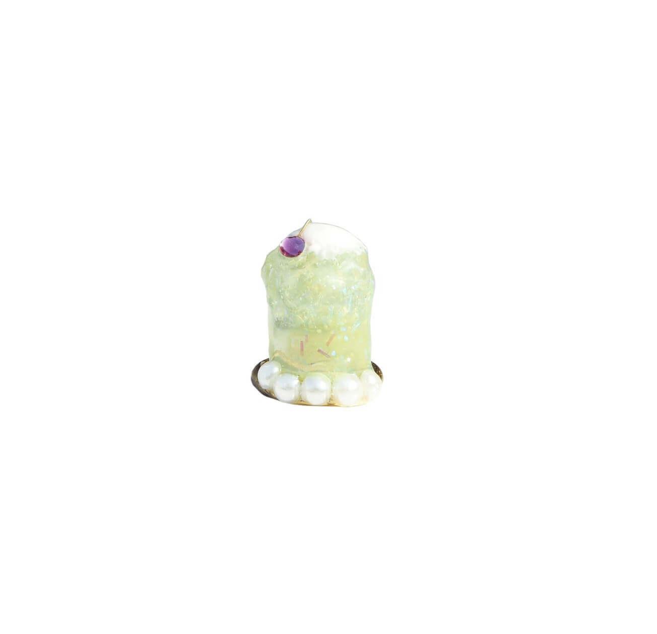 なかやまちえこDesign Ring クリームソーダ グリーン/¥4,730(税込み)