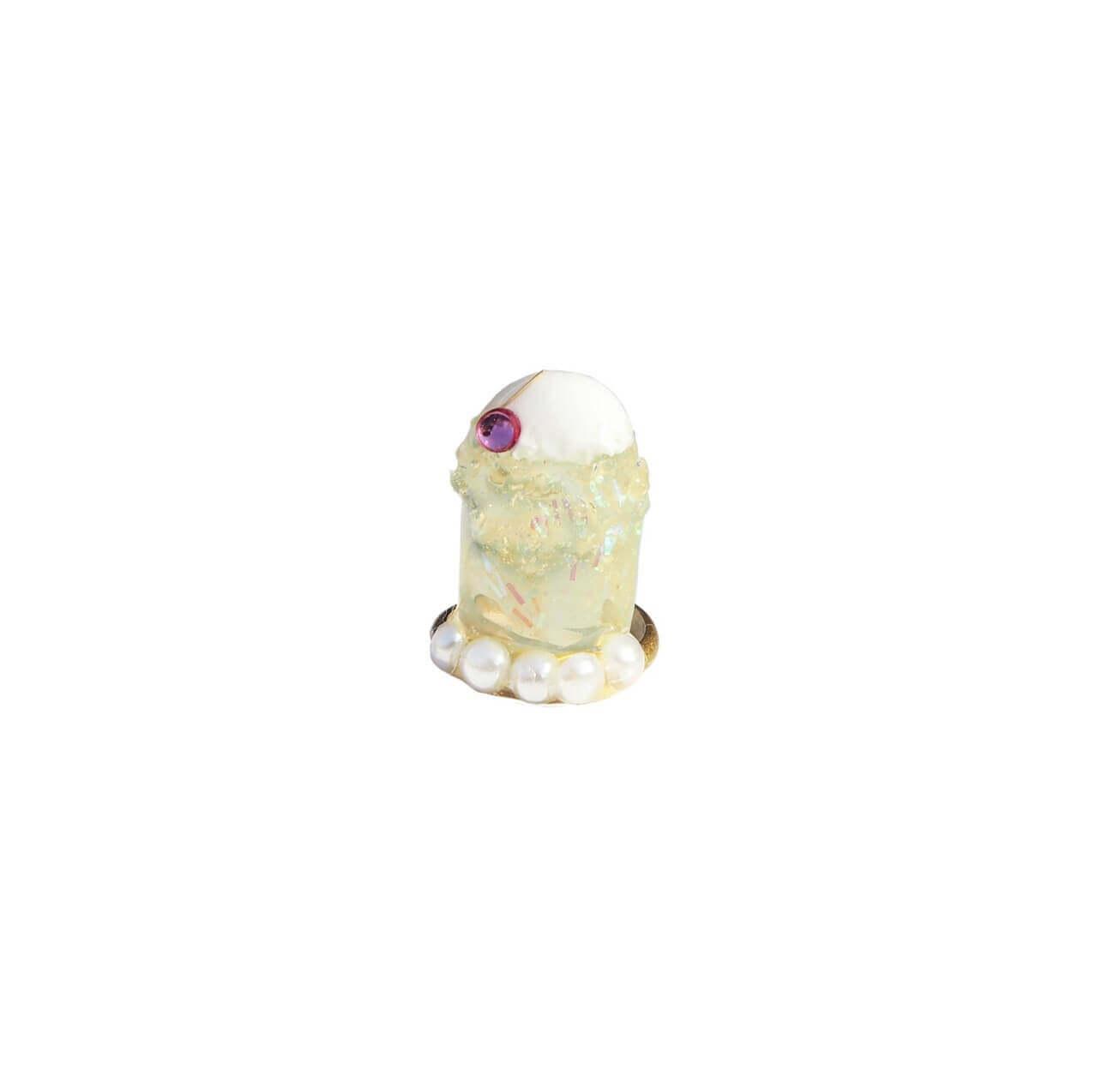 なかやまちえこDesign Ring クリームソーダ イエロー/¥4,730(税込み)