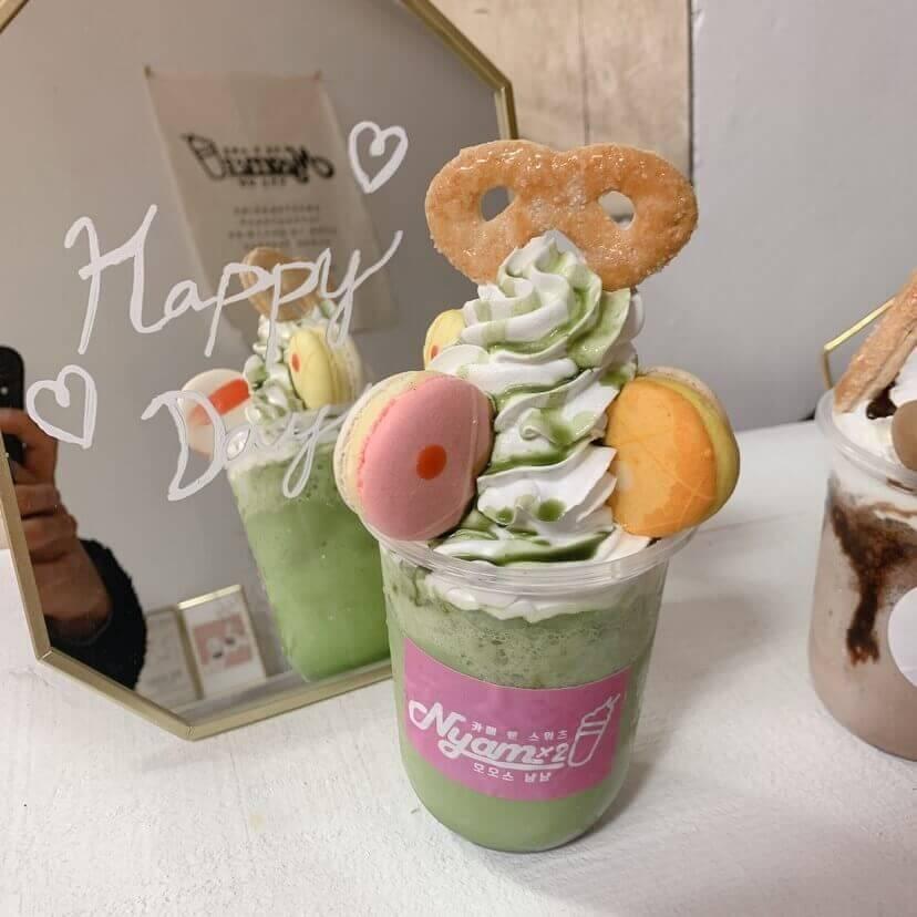 マカロンフラッペ 抹茶/¥900(税込み)