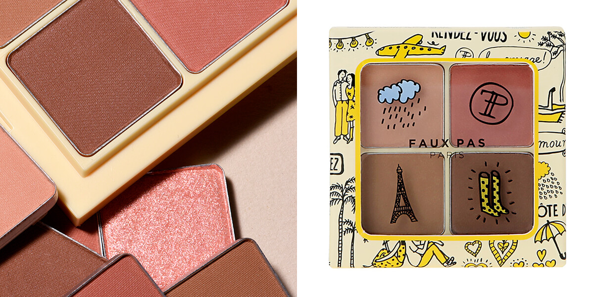 「Faux Pas Paris(ポパパリ)」のシャドーパレット 01 ワームレイン