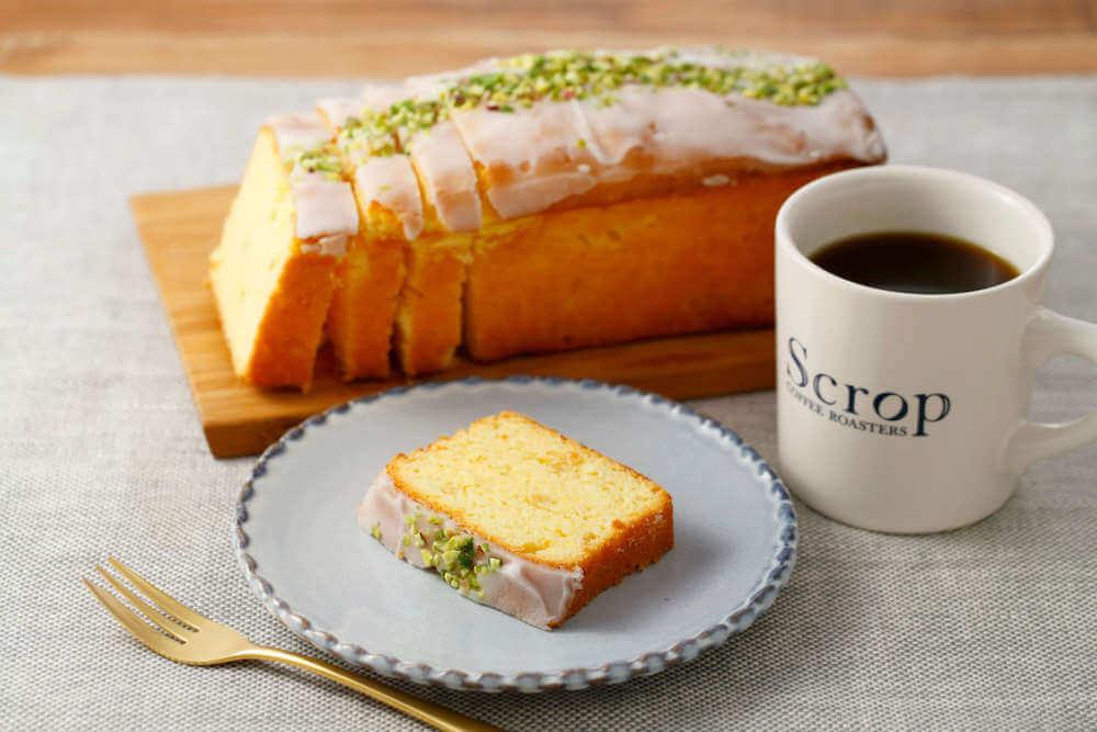 Scrop COFFEE ROASTERS(スクロップ コーヒー ロースターズ )のレモンパウンドケーキ/¥275(税込み)