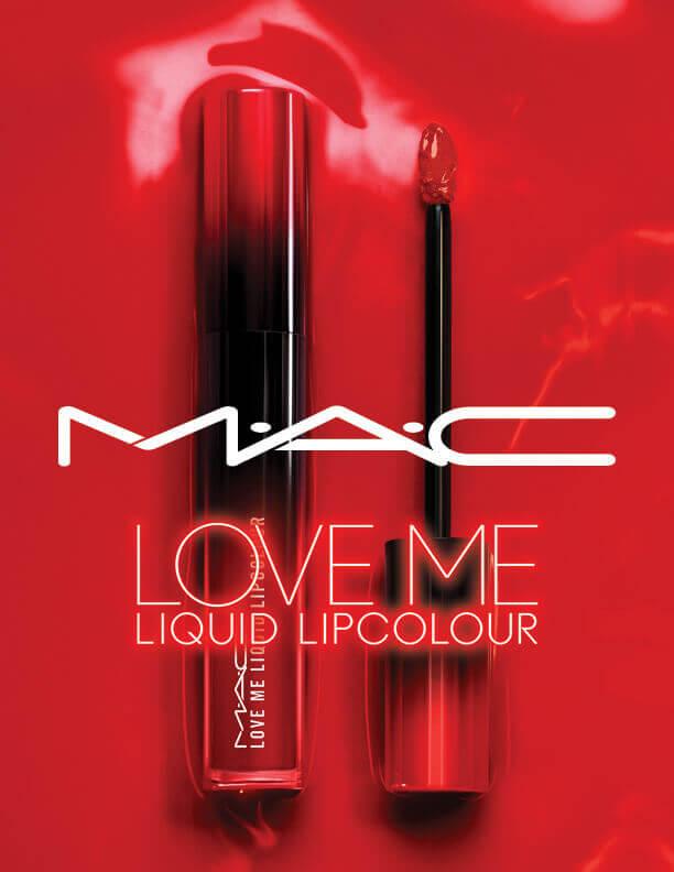 M·A·C(マック)ラブ ミー リキッド リップカラーのレッドカラー
