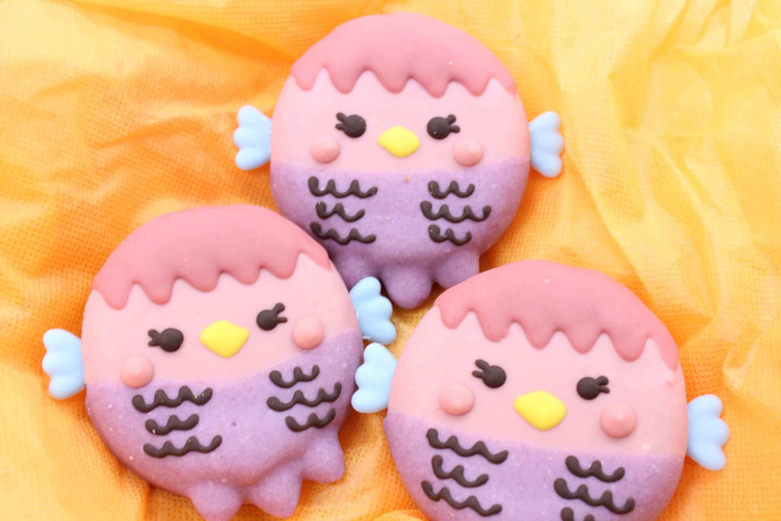 イクミママのどうぶつドーナツ!アマビエドーナツ(店頭販売価格)/¥340(税込み)