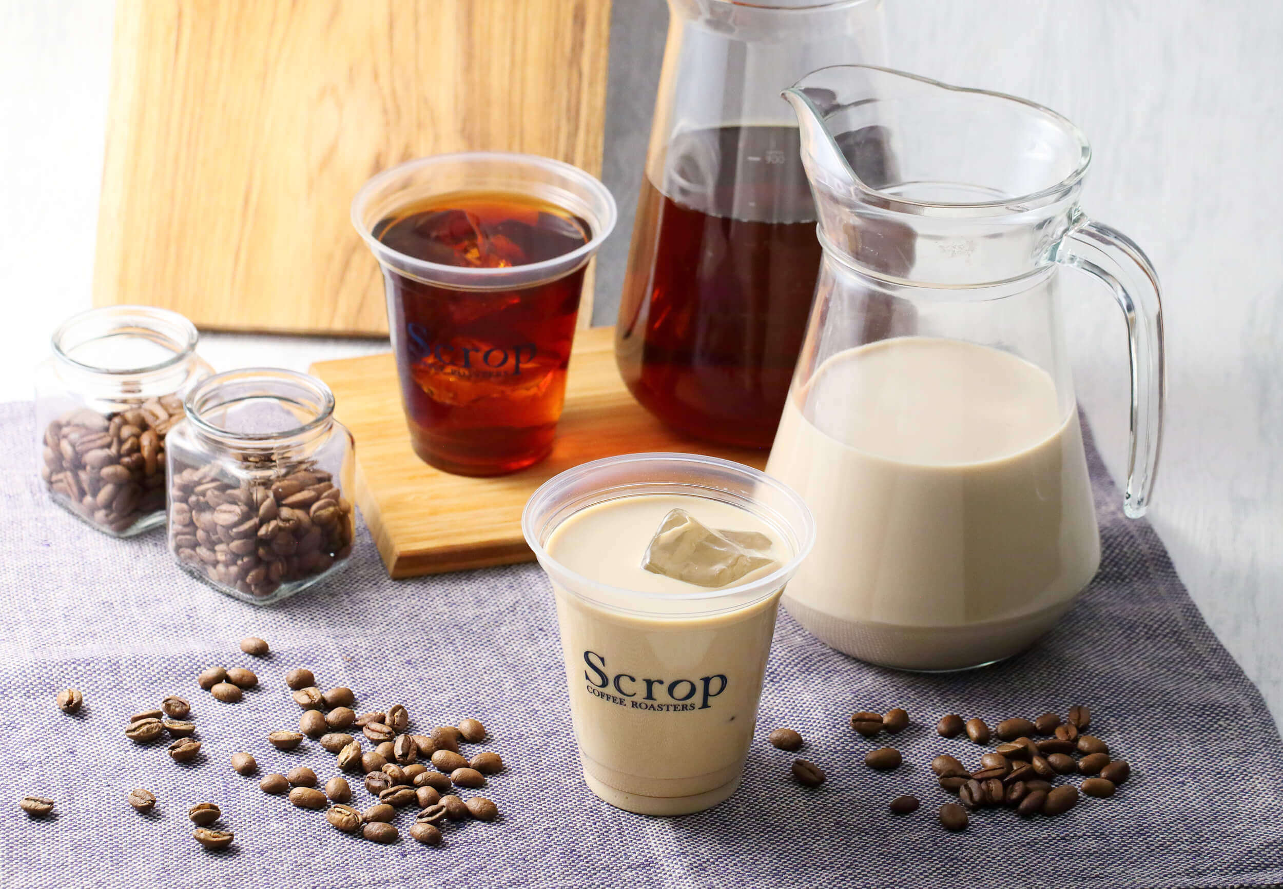 Scrop COFFEE ROASTERS(スクロップ コーヒー ロースターズ )のゲイシャミルクブリュー/¥693(税込み)