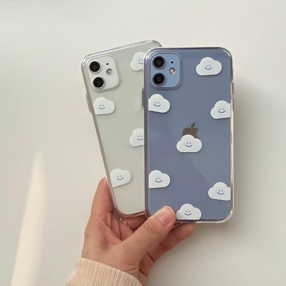 「moim(モイム)」の【skyfolio】くも クリア iPhoneケース/¥2,420(税込み)