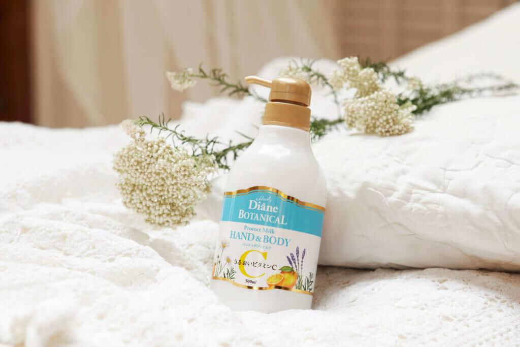 赤ちゃんにも使えるダイアンボタニカルのハンド&ボディミルクで乾燥に負けないうるおいケア♡