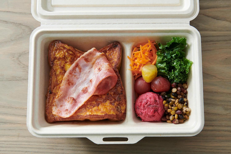 「プルミエメ(PREMIER MAI)」プルミエメBOX〈フレンチトースト・オリーブオイル・チーズ〉/¥1,600(税込み)
