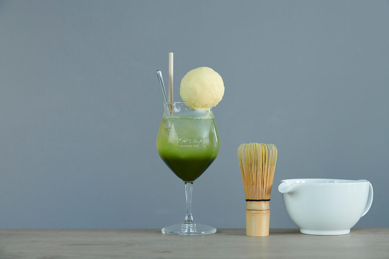 「プルミエメ(PREMIER MAI)」有機抹茶クリームソーダ/¥1,000(税込み)