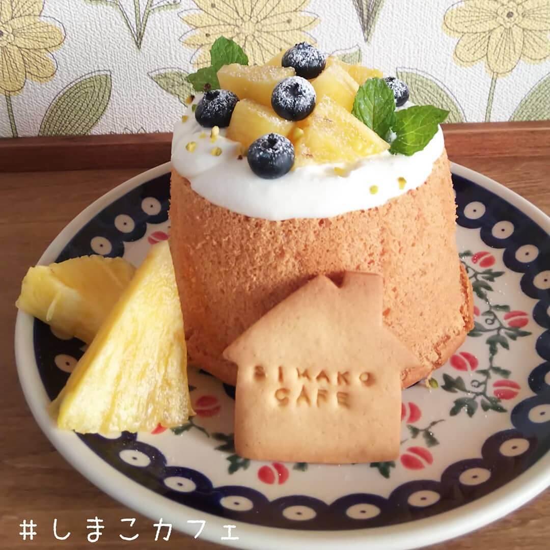 しまこカフェのシフォンプレート/¥670~(税込み)