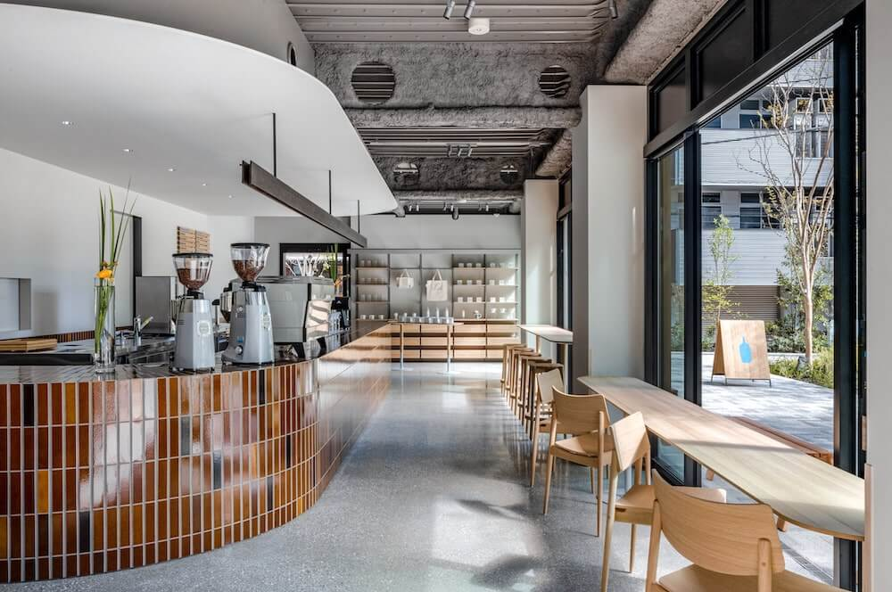 ブルーボトルコーヒー 渋谷カフェの店内カウンター