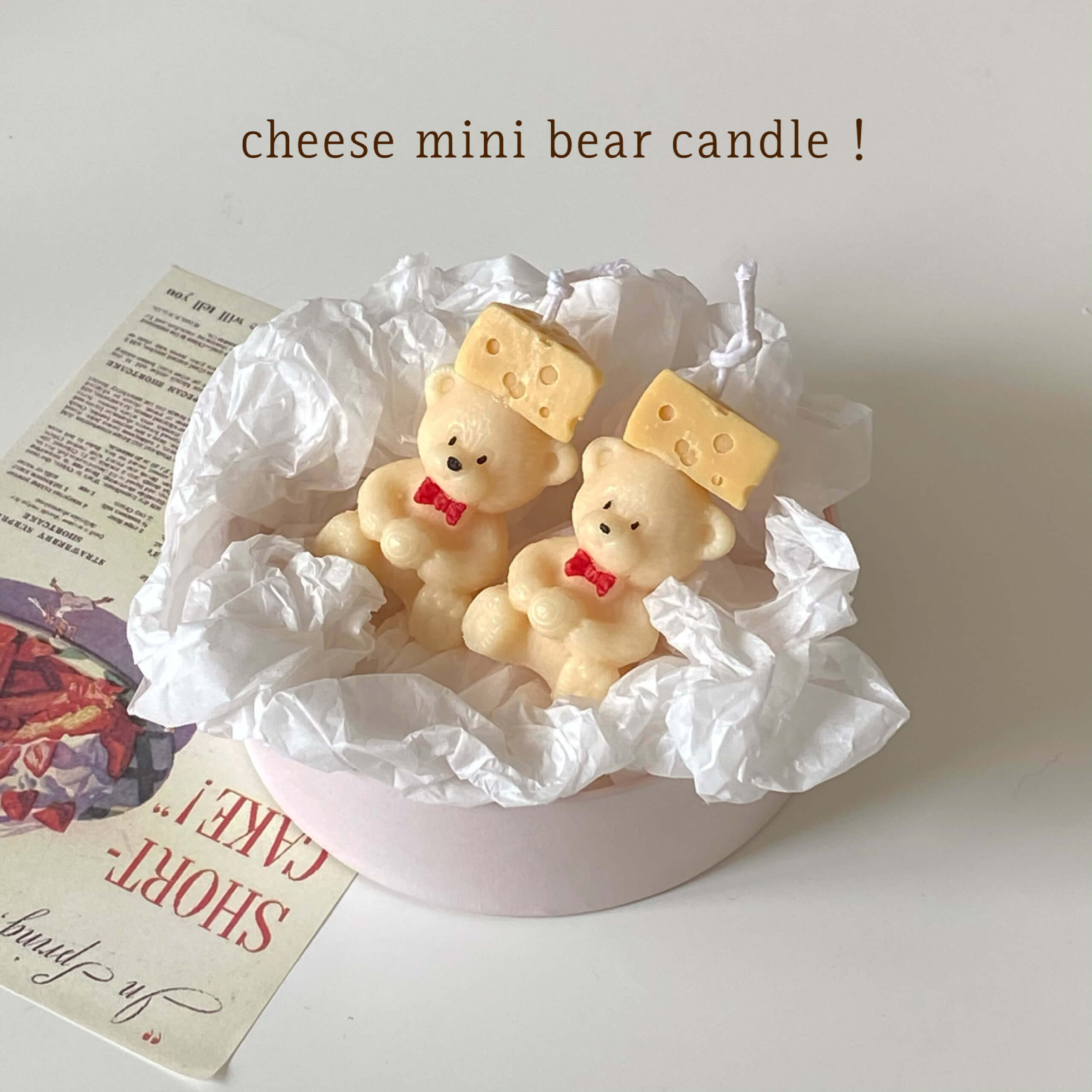 Lily candle(リリーキャンドル)のcheese mini bear candle/¥900(税込み)