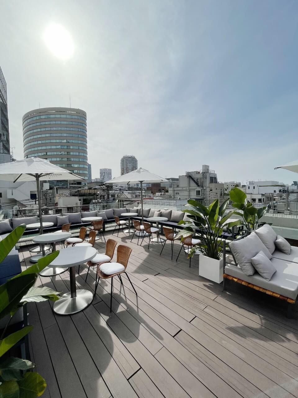 cafe terrace & bistro Queencyのテラスからの景色