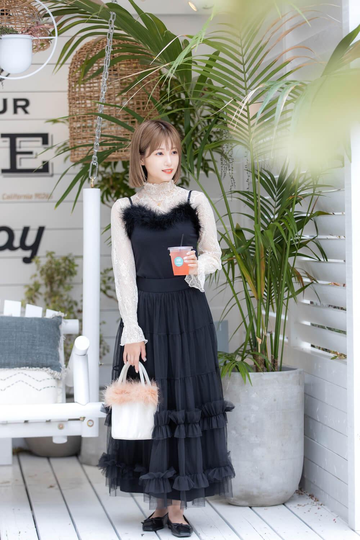 朝長美桜サンの私服コーデ