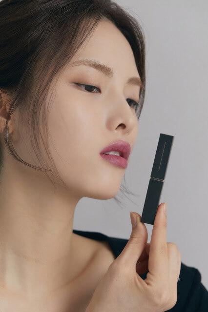 韓国コスメ「Matièr(マティエ)」のLa Crème 04 Orchid petalの使用イメージ