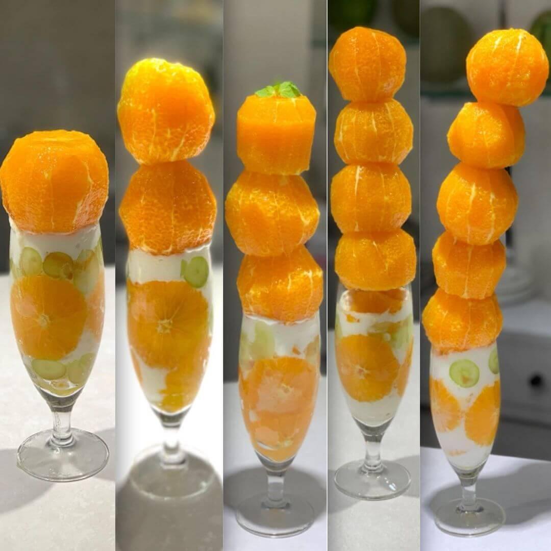 オレンジパフェ/¥1,000〜(税込み)