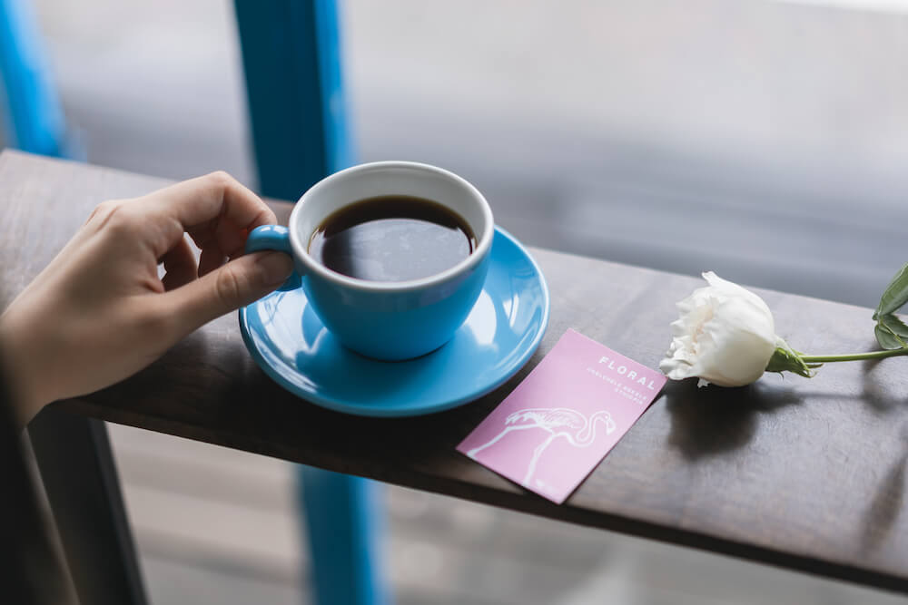 シングルオリジンコーヒーHOT/¥500、ICED ¥550(税込み)