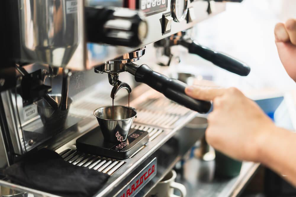 ライトアップコーヒーのエスプレッソマシン