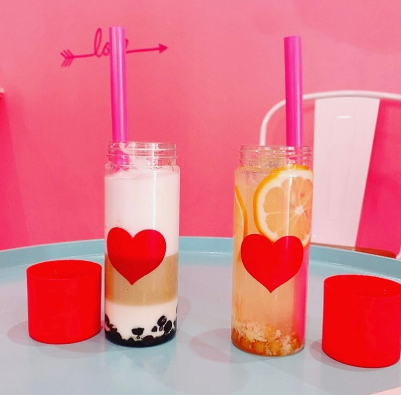 Drink stand MIEUXのタイガーミルクティー、生レモネード