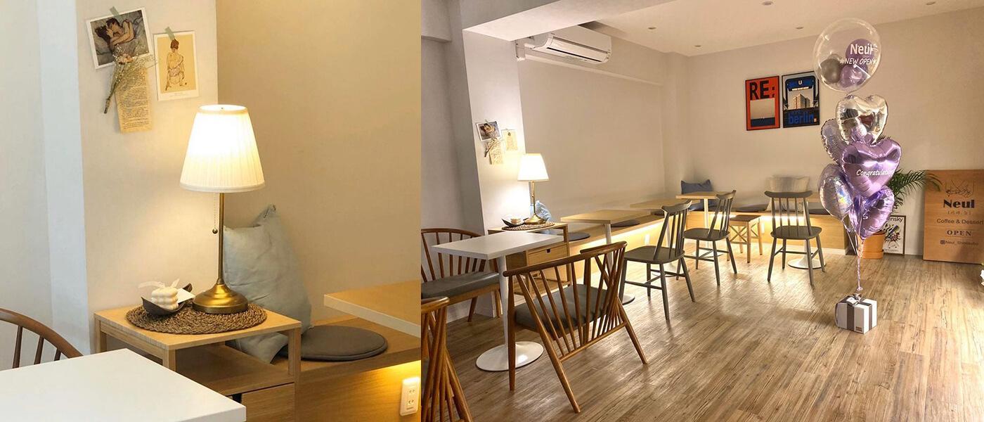 【新大久保】の韓国カフェ「CAFE Neul(カフェヌル)」の店内