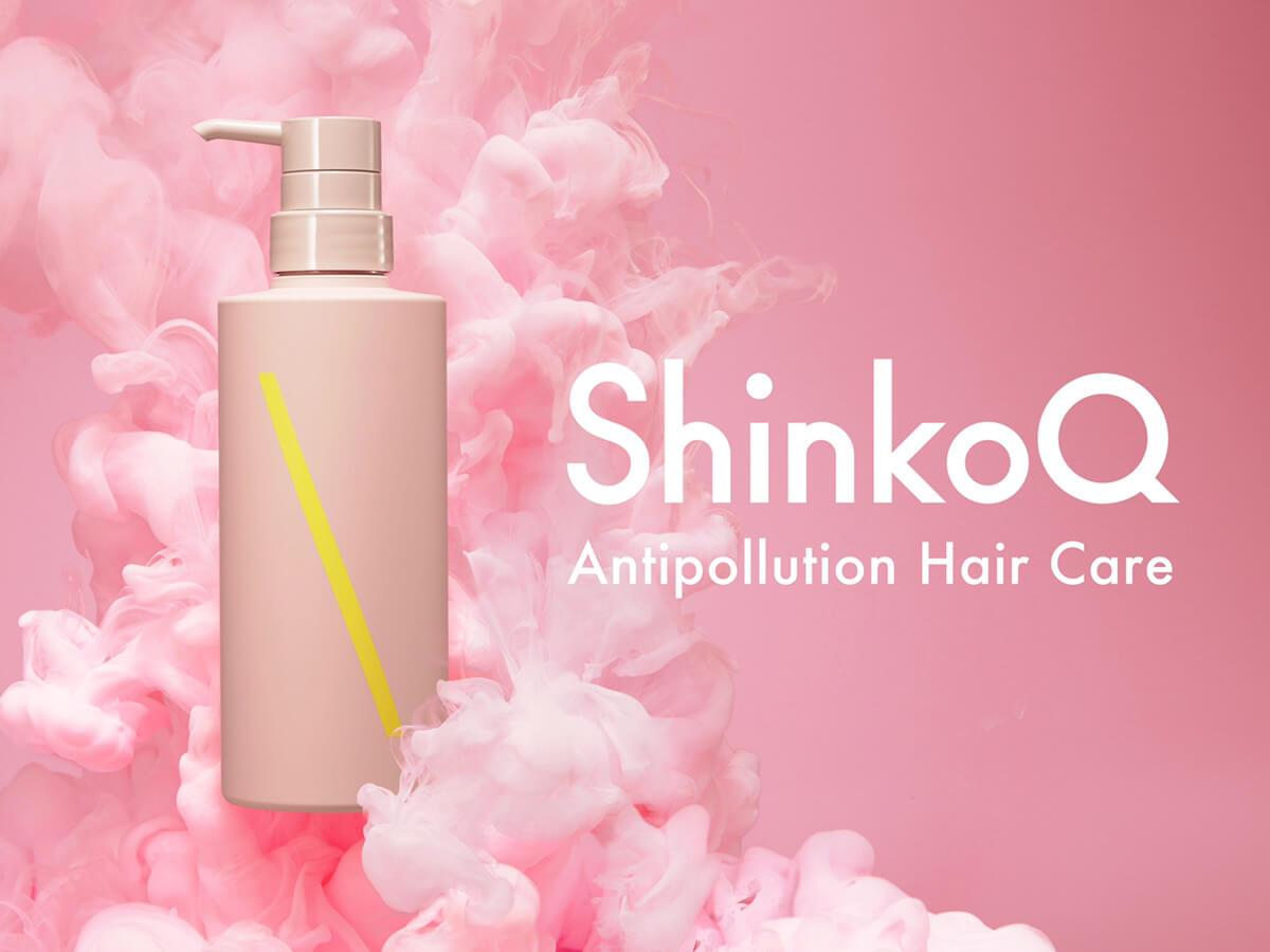 新感覚ヘアケアブランド「ShinkoQ」のロゴビジュアル