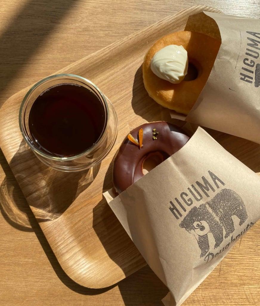 HIGUMA Doughnuts × Cofffee Wrights表参道 チョコレートディッピン、ハニーマスカルポーネ